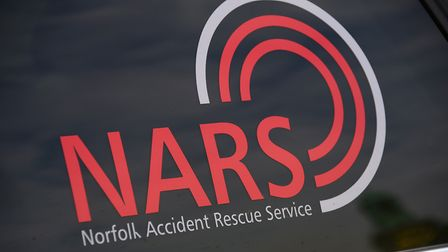 The NARS (Norfolk Accident Rescue Service) and Critical Care logos. Picture: DENISE BRADLEY