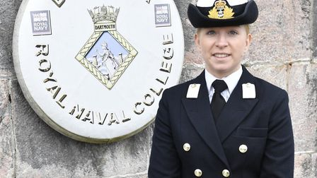 Helena Fox, 24, completed the intensive 30-week Navy officer's course. Picture: Craig Keating