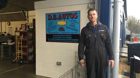 The owner of D.B. Autos is celebrating his tenth anniversary in business. Photo: Archant