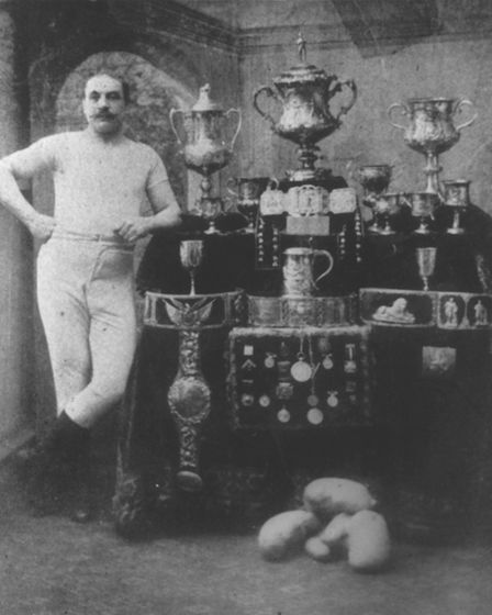 Picture of Norwich boxing legend Jem Mace (1831-1910) who used to box in The Ploughshare carpark. Ph