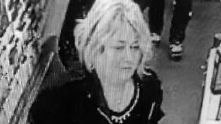 Police are appealing for help in identifying this woman caught on CCTV. Picture: Norfolk Constabular