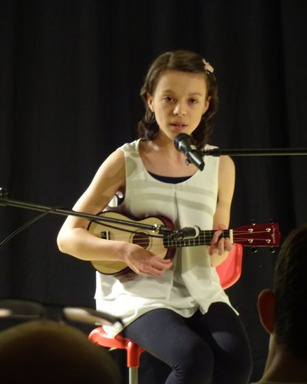 Hannah Coe taking part in Neatherd's Got Talent. Picture: Marion Broughton