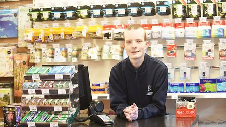 The new WHSmith store in Dereham is now open. Pictured is James Stow. Picture: Ian Burt