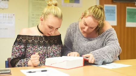 The adult education class meets at the Breckland Business Centre every Monday morning. Pictured are