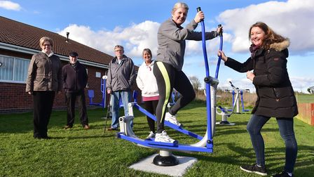 The village of Brisley is getting outdoor gym equippment including an 'air walker', similar to this