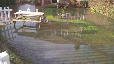 Flooding in Barnham Broom. Photo: Submitted