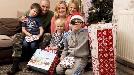 Michelle Goldsmith, 34, is raising money for her nine-year-old son Leon, who suffers from glaucoma,