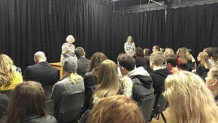 Baroness Hayman visited Dereham Sixth Form. Picture: Northgate High School and Unity Education Trust