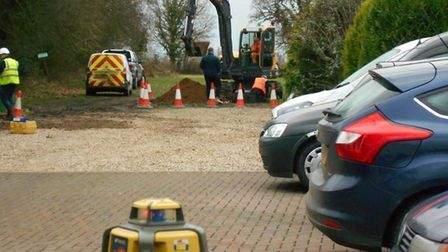 Initial building works have started on Cats Protection adoption centre in Longham, near Dereham. Pic