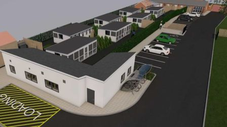 Artist's impression of the new Cats Protection Adoption Centre in Longham, near Dereham. Picture: C