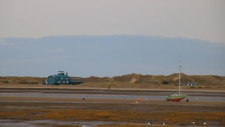 The old Lifeboat House at Blakeney Point as seen from Morston Marshes Photo: Martin Sizeland