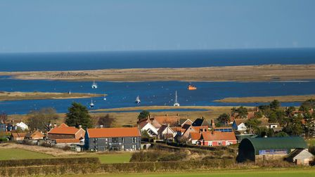 View of Brancaster Staithe from Barrow Common Photo: Ron Graham