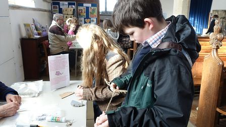 Fun with pancakes and friends was at the heart of St Nicholas's Messy Church event. Picture: EVELYN