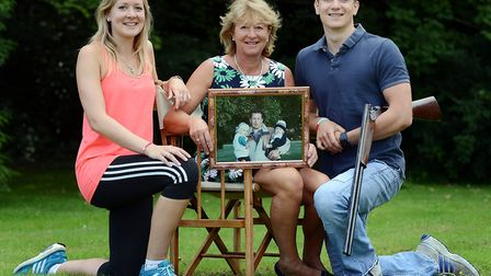 Rosie, Sally and Tom Cross when they relaunched the Brian Cross Memorial Trust. Rosie and Tom will b