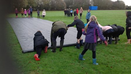 The pupils planted more than 200 trees. Picture: Mattishall Primary School