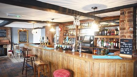 The Queen's Head at Foulsham has been refurbished after last year's fire in May. Picture: Ian Burt