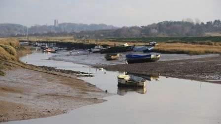 The beautiful and peaceful Morston Quay at low tide Photo: Simon Bamber