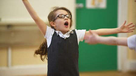 Dereham Church Infant School Topaz Class took part in a training session with Commonwealth Games sil