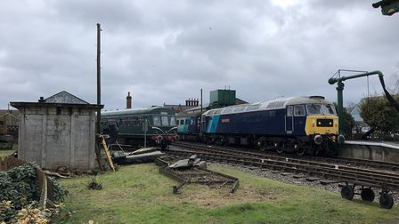 Filming came to an end on Friday at Dereham's mid-Norfolk Railway. Picture: Archant