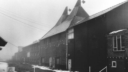 Dereham Maltings. Dated 29 December 1981. Picture: BH. Smith