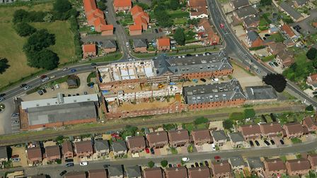 Aerial view of Dereham Maltings. June 2005 Picture by: Mike Page