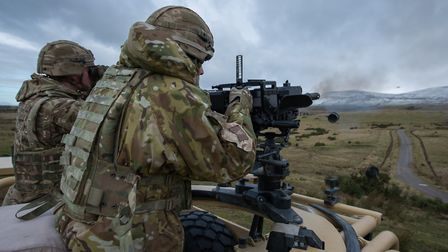 Soldiers from C Squadron prepare for Poland at Warcop Ranges in Cumbria. Photographer: Corporal Dona