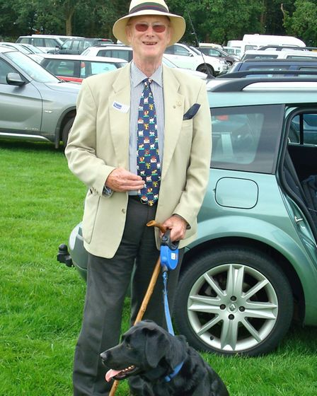 Barry Briggs and his dog Holly. Picture: NANCY BRIGGS