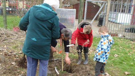 Mattishall tree planting. Picture: Claire Findlay