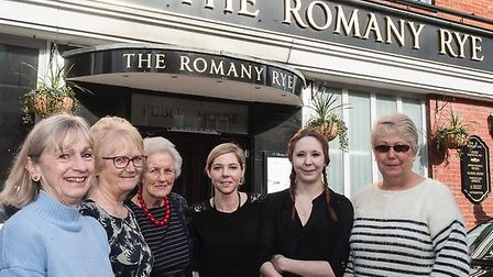 Caring Friends volunteers with Manager and staff of The Romany Rye. Picture: CARING FRIENDS