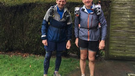 Mark Bartram (left) and Sam Kingston (right) are running the Marathon Des Sables next month. Picture