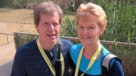 Gary and Sue Moore have opened up the door to their house to help their local community. Picture: SU