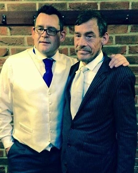 Stuart Yates, right, with brother Philip Yates. Picture: Courtesy Mr Yate's family