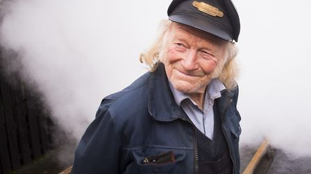 Reepham and Whitwell railway station volunteer Peter Vine enjoying the steam day.Picture: Nick Butch