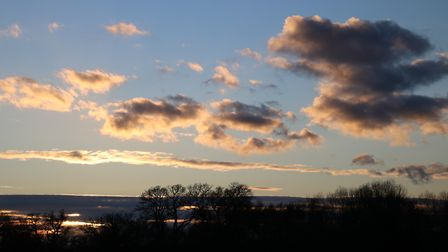 Late afternoon sky over Sculthorpe Moor Photo: Martin Sizeland