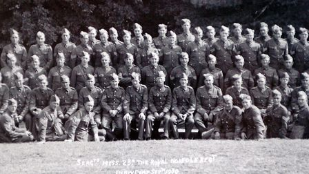 Photograph of the 2nd Battalion of the Royal Norfolk Regiment in 1939. See also: (L TO R) William O