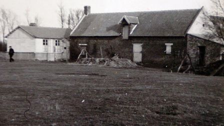 The barn where the murder of soldiers from the 2nd Battalion of the Royal Norfolk Regiment at Le Pa
