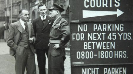 William O'Callaghan (left) outside the Nuremberg Law Courts. PHOTO: ANTONY KELLY