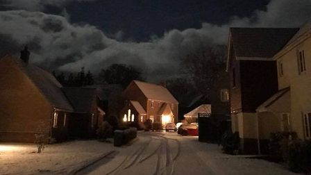 Priors Grove in Yaxham covered in snow. Picture: JUDY BUTCHER