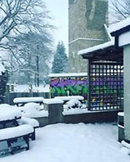 Snow at Lyng. Picture: VICTORIA HUNT