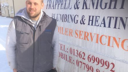 Lee Webster, from Dereham, helped stranded drivers caught in the heavy snow on the A47.