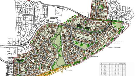 The site plan for the Greenfields Road development. Picture: Orbit Homes