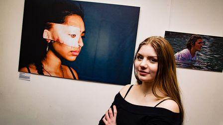 Maddy Turner, with her award-winning image. Picture: KEVIN LINES