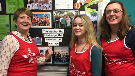 A team of Dereham Sixth Form students and staff are raising money for the East Anglian Air Ambulance
