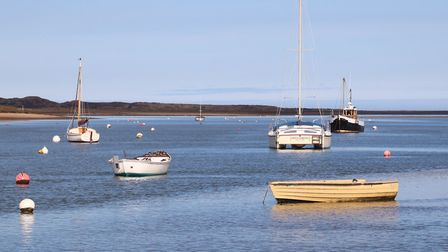 Brancaster Staithe in some welcome March sunshine. Picture: Martin Sizeland