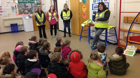 Year one pupils were given lessons on road safety. Picture: Toftwood Infant School