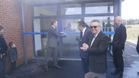 Lord Hastings cutting the ribbon at Astley Primary School's new £2m teaching block. Picture: COURTES
