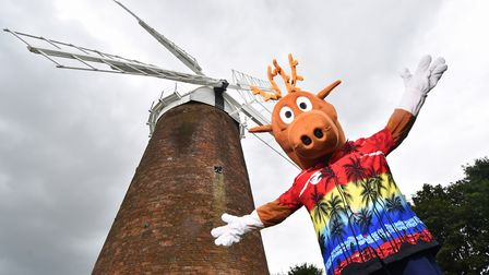 There will be more fun at Dereham Windmill this Easter. This is the Dereham Carnival mascot, who won