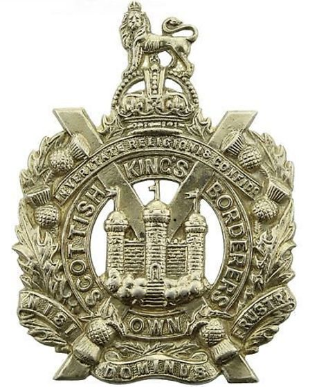 The regiment badge for King's Own Scottish Borderers. Picture: St Andrew's/Ryburgh Remembers