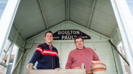 Peter Skeggs-Gooch from Thorncroft Clematis and Sam Coster of Mongers Architectural Salvage. Picture
