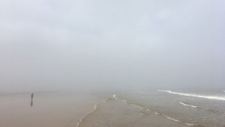 Surrounded by mist, where the sky meets the sea at Holkham. Photo: Bridget James